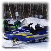 maine snowmobiling, cabin lodging